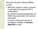 acoustic scores using hmms contd32