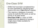 one class svm