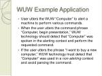 wuw example application