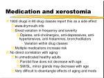 medication and xerostomia