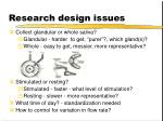 research design issues