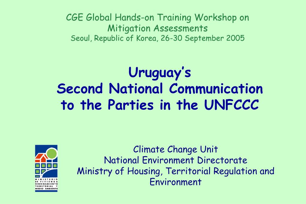uruguay s second national communication to the parties in the unfccc l.