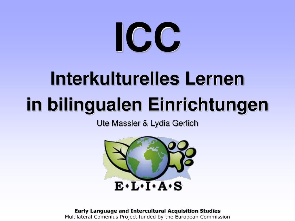 icc interkulturelles lernen in bilingualen einrichtungen ute massler lydia gerlich l.