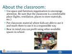 about the classroom