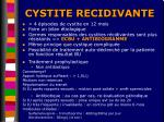 cystite recidivante