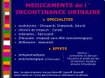 medicaments de l incontinance urinaire