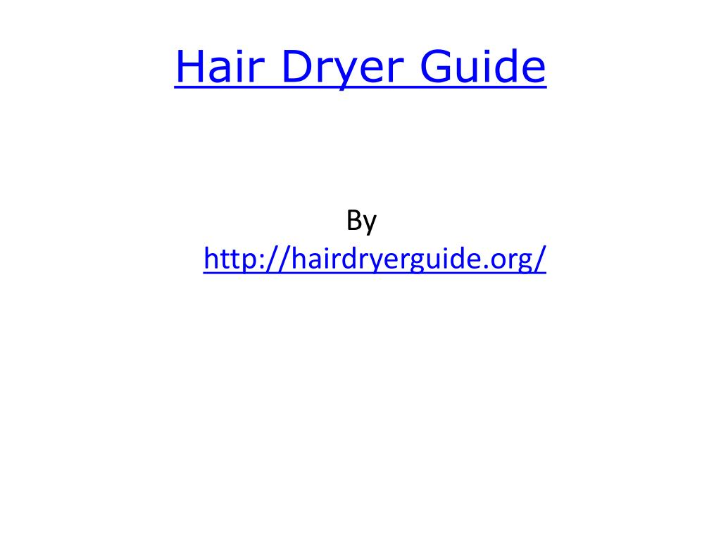 hair dryer guide l.