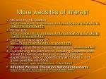 more websites of interest