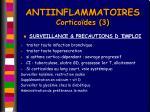 antiinflammatoires cortico des 3