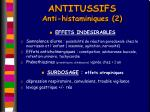 antitussifs anti histaminiques 2