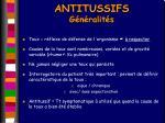 antitussifs g n ralit s