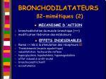 bronchodilatateurs 2 mim tiques 2