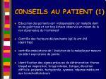 c0nseils au patient 1