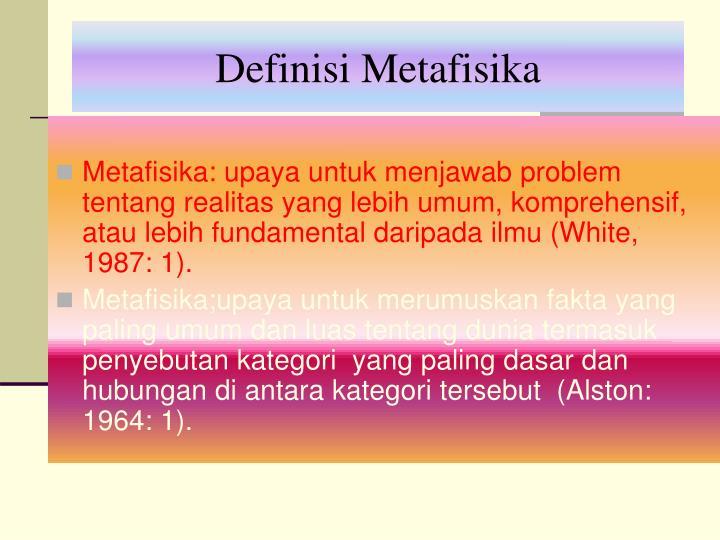 Definisi Metafisika