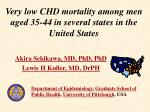 very low chd mortality among men aged 35 44 in several states in the united states