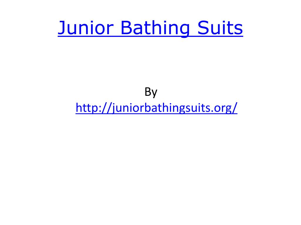junior bathing suits l.