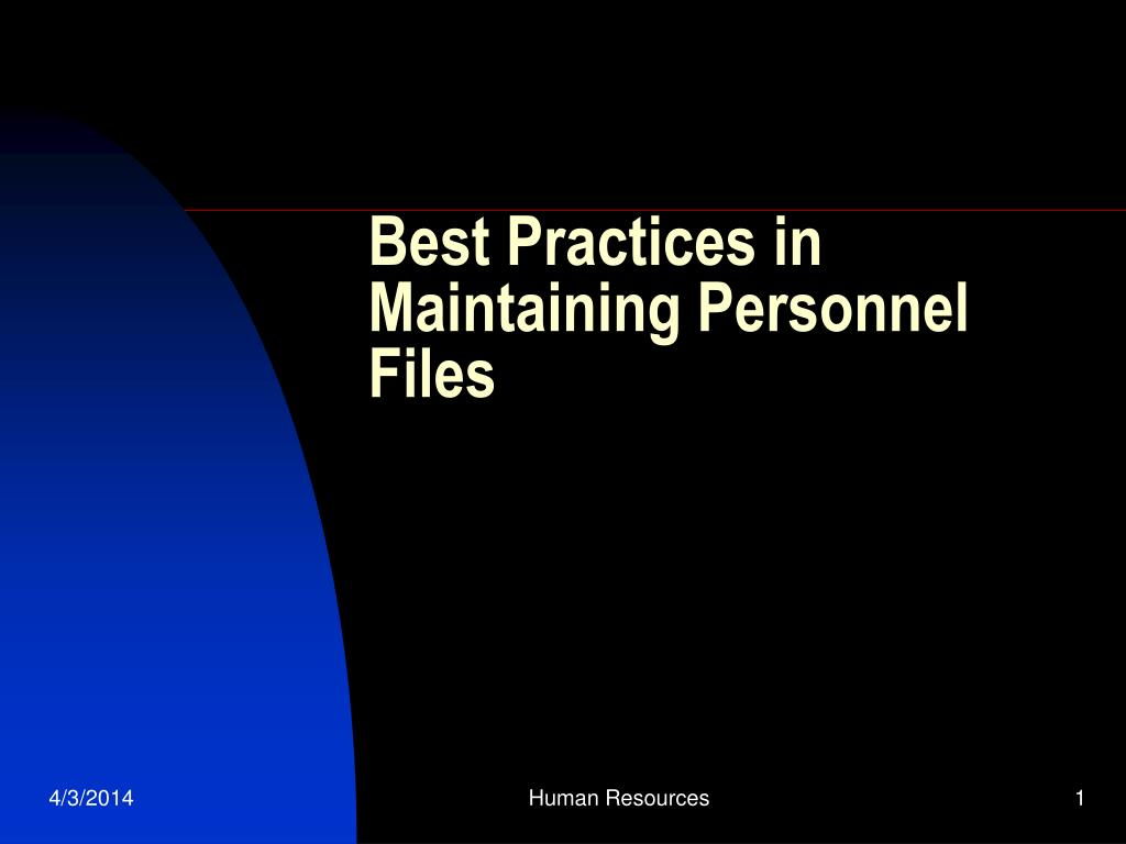 best practices in maintaining personnel files l.