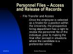 personnel files access and release of records17
