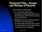 personnel files access and release of records18
