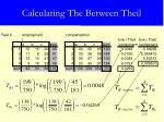 calculating the between theil11