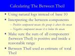 calculating the between theil12