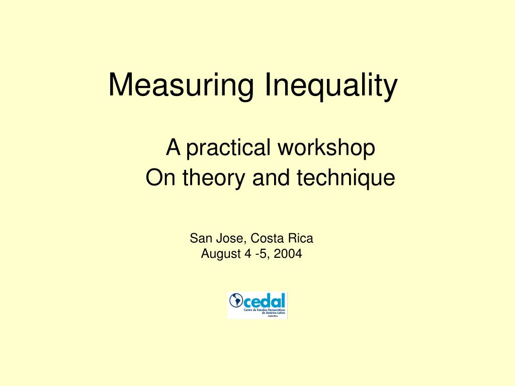 measuring inequality l.