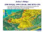 jockey s ridge 1998 doqq 1999 lidar 2002 rtk gps