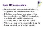 open office metadata