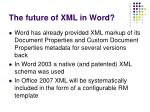 the future of xml in word