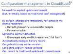 configuration management in cloudstudio