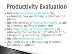 productivity evaluation