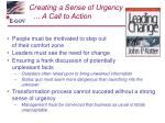 creating a sense of urgency a call to action