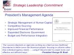 strategic leadership commitment