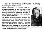 1931 experiences of russia a diary