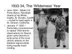 1933 34 the wilderness year