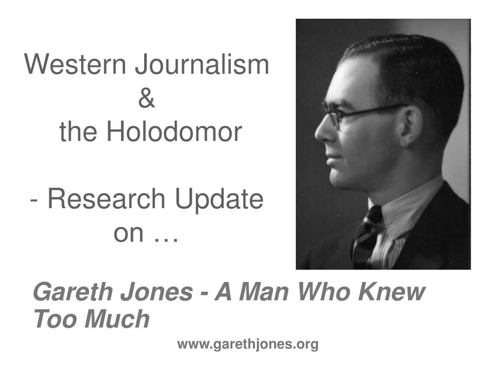 western journalism the holodomor research update on l.
