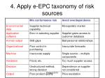4 apply e epc taxonomy of risk sources