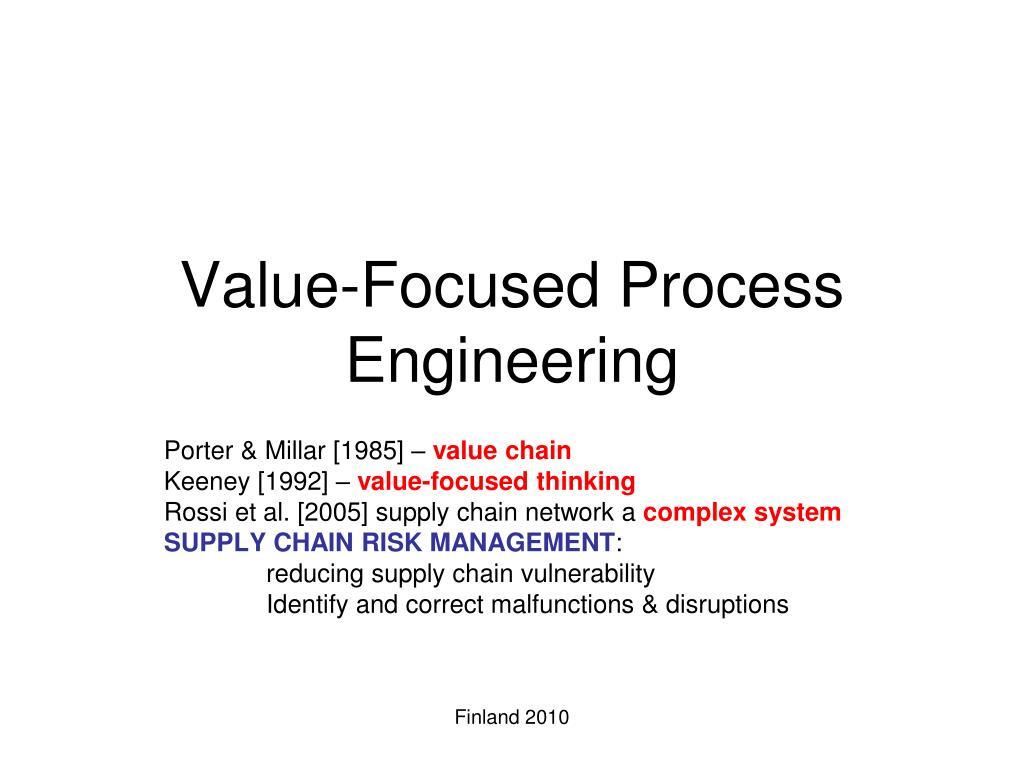 value focused process engineering l.