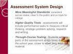 assessment system design