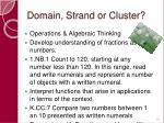 domain strand or cluster