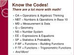 know the codes there are a lot more with math