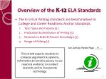 overview of the k 12 ela standards41