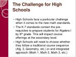 the challenge for high schools