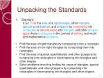 unpacking the standards57