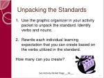 unpacking the standards61