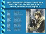 iaru monitoring system coordinator wolf dk2om and the group of 17 clever detectives in region 1