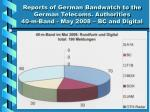 reports of german bandwatch to the german telecoms authorities 40 m band may 2008 bc and digital