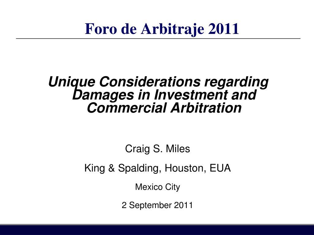 foro de arbitraje 2011 l.
