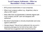 local company settlements effect on shareholder s treaty arbitration