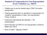 standard of compensation for non expropriation treaty violations e g f et